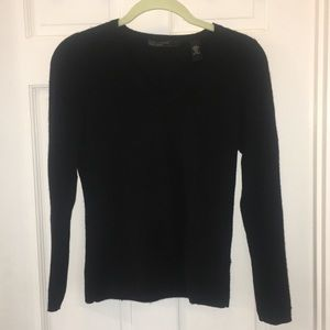 ✨SALE Lord & Taylor two ply cashmere black V-neck